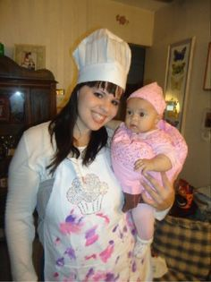 baker and cupcake mommy and baby costume - Google Search