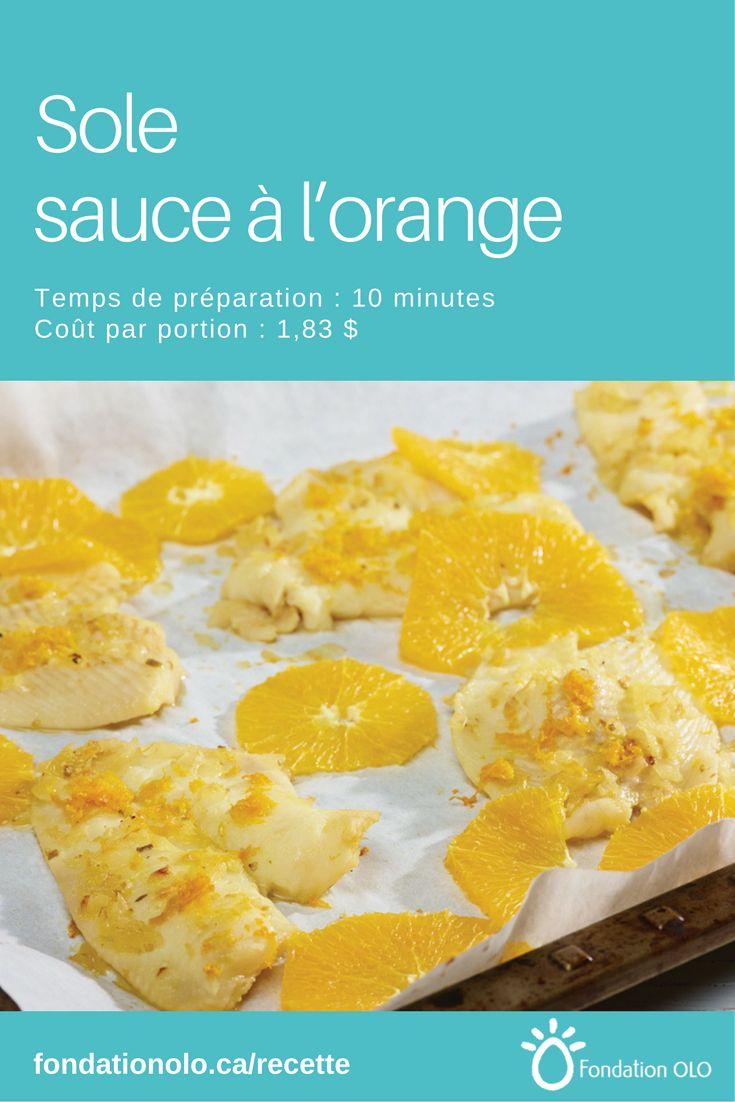 Recette de filet de sole à l'orange, une sauce sucrée-salée qui accompagnera à merveille vos filets de poisson. Seulement 1,83$ par portion. --- Recette facile, Recette économique, Recette rapide, Recette nutritive --- #Poisson #Orange