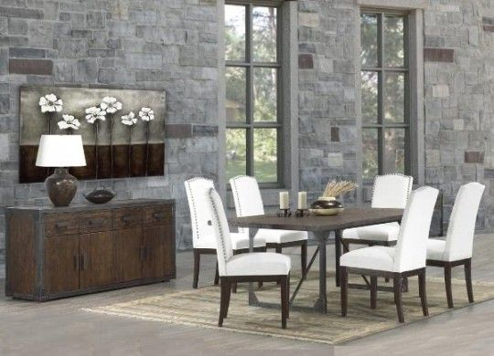 Dining collection embodies the look and feel of today's Industrial Chic