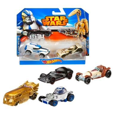 Hot Wheels Star Wars Character Vehicle Gift Set - Mattel Shop Exclusive Toy