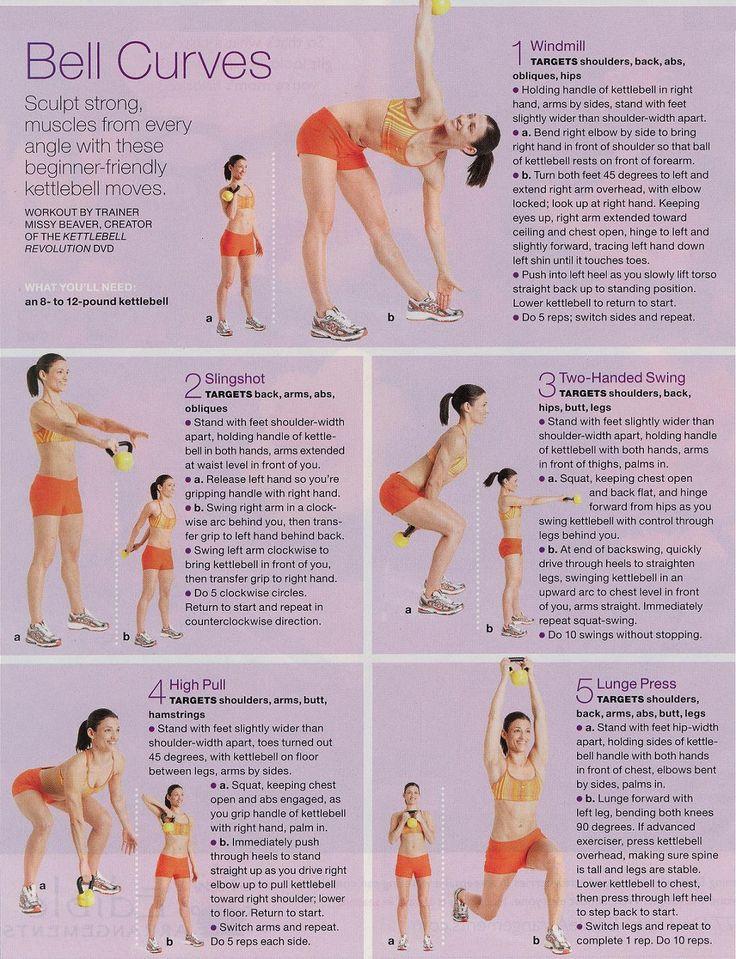 kettle bell exercises -