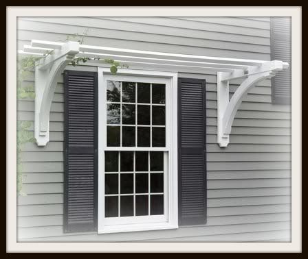Simple Trellis Above Window I Could Build One For The Double Windows On My Shed Around Yard