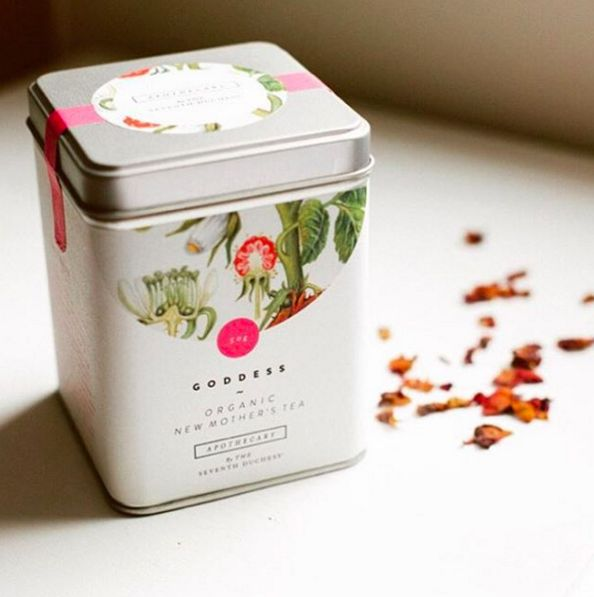 The Seventh Duchess' 'Goddess' tea for new mothers draws on anise myrtle, raspberry leaf, fennel and fenugreek to naturally ease morning sickness and soothe digestion.  http://bit.ly/1HYbY6v