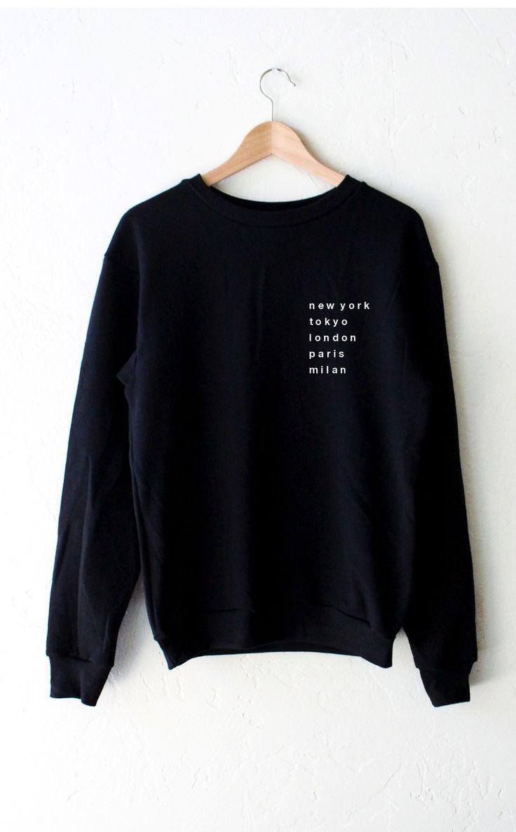 - Description - Size Guide Details: Super soft & cozy 'Cities - New York, Tokyo, London, Paris, Milan' oversized crew neck fleece sweatshirt by NYCT Clothing. Oversized, Unisex fit. 50% Cotton, 50% Po