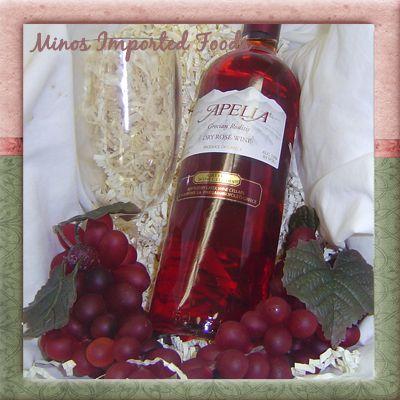 Apelia Grecian Roditis Dry Rose Wine Greece