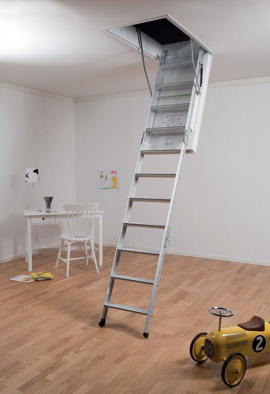 MidMade-portaat kestävät isältä pojalle. Ullakkoportaiden ansiosta voit valjastaa vintin hyötykäyttöön. Huolellisesti lämpöeristetty luukun kansi ei muodosta kylmäsiltaa, vaan pitää lämmön sisällä.