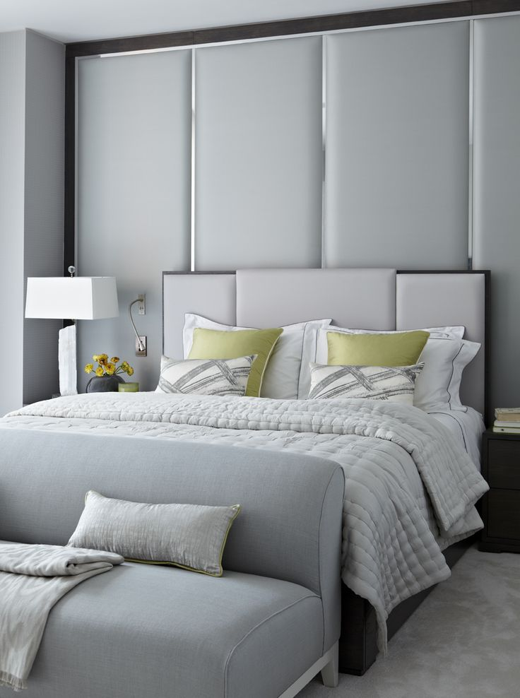 Interiors london apartment by taylor howes neutral for Bed headrest design