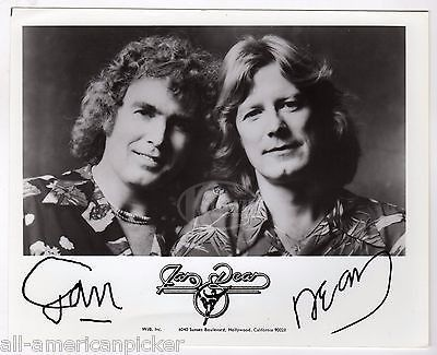 JAN AND DEAN SURF ROCK MUSIC BAND ORIGINAL AUTOGRAPH SIGNED PROMO PHOTO
