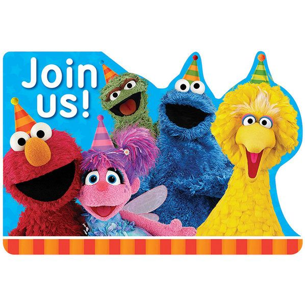 Check out Sesame Street Thank You Notes | Sesame Street Birthday party supplies for your next birthday bash from Wholesale Party Supplies from Wholesale Party Supplies