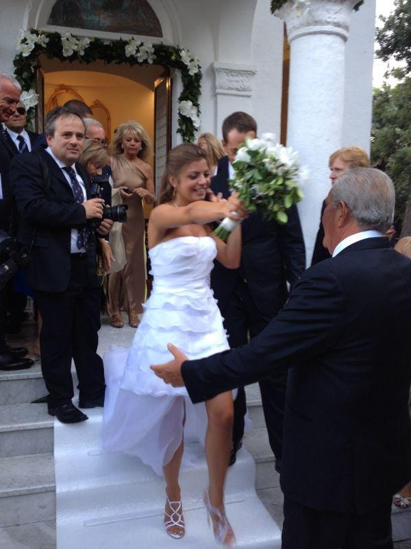 """abito da sposa """"corto"""" a capri"""
