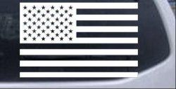 American Flag Military Car or Truck Window or Laptop Decal Sticker -- White 3in X 4.7in. Price: $4.22 + $1.50 shipping