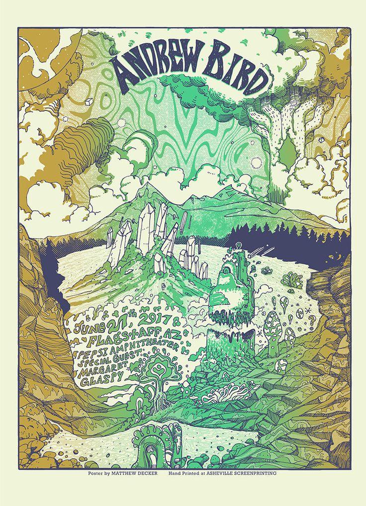 Andrew Bird Hand-Printed Gigposter by MatthewStuartDecker on Etsy