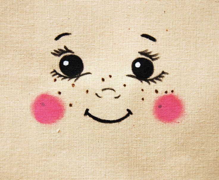 Visage de poupée poupon pour création textile DIY poupée en chiffon : Autres Activités Enfants par secotine-mercerie