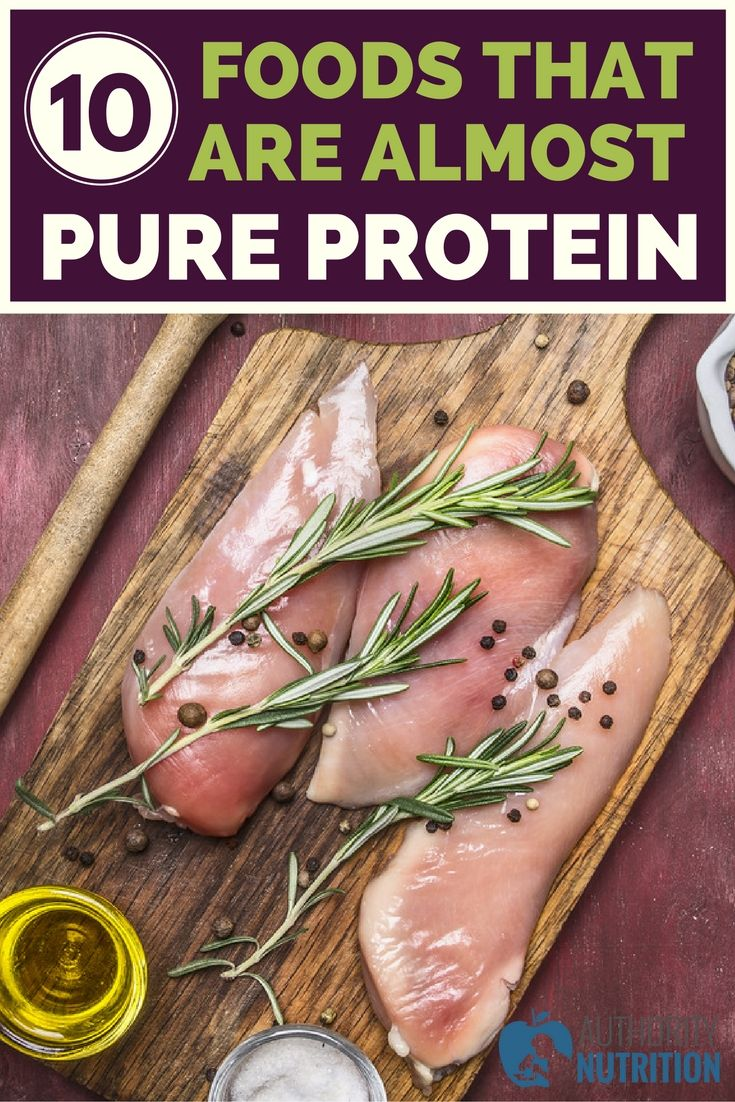 Not all high-protein foods are equal. The 10 foods on this list are extremely high, almost nothing but protein and water. Learn more here: https://authoritynutrition.com/10-foods-almost-pure-protein/