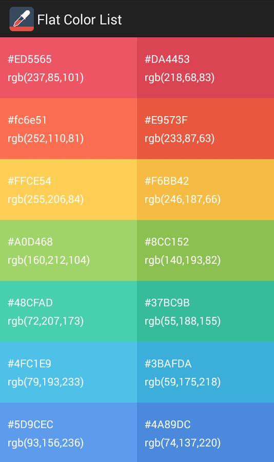 73 Best Images About Colors On Pinterest Flat Design