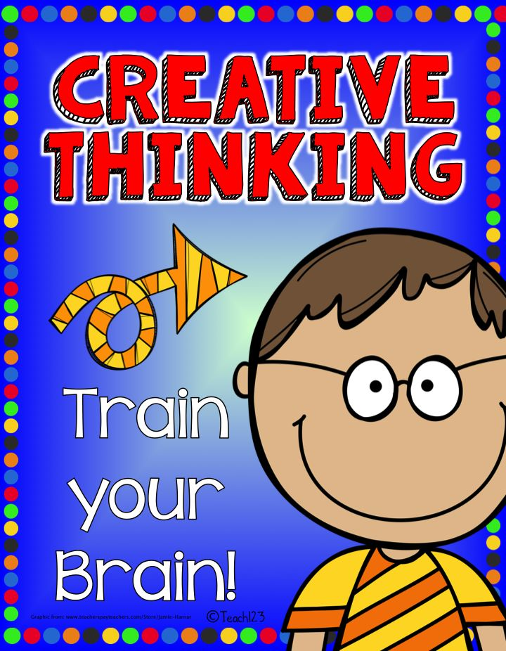 Creative Thinking: Brain Trainers:  For some students, thinking creatively and out-of-the-box comes naturally.  For others, modeling is needed in the beginning.  With practice, all your students can train their brains to think creatively and see things in a different way.  $