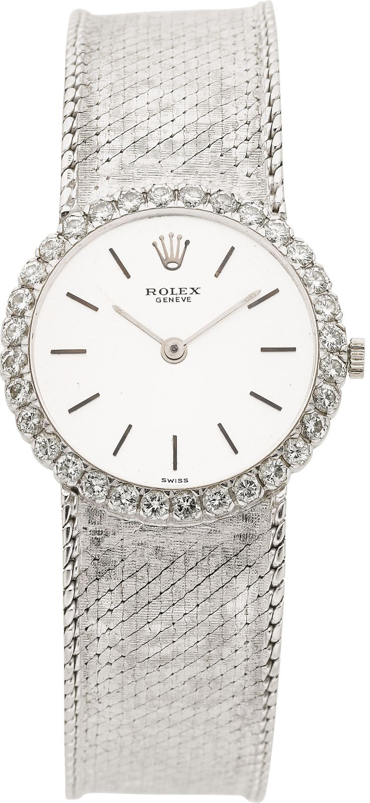 Rolex Lady's Diamond, White Gold Wristwatch, circa 1970. ... Estate | Lot #58985 | Heritage Auctions
