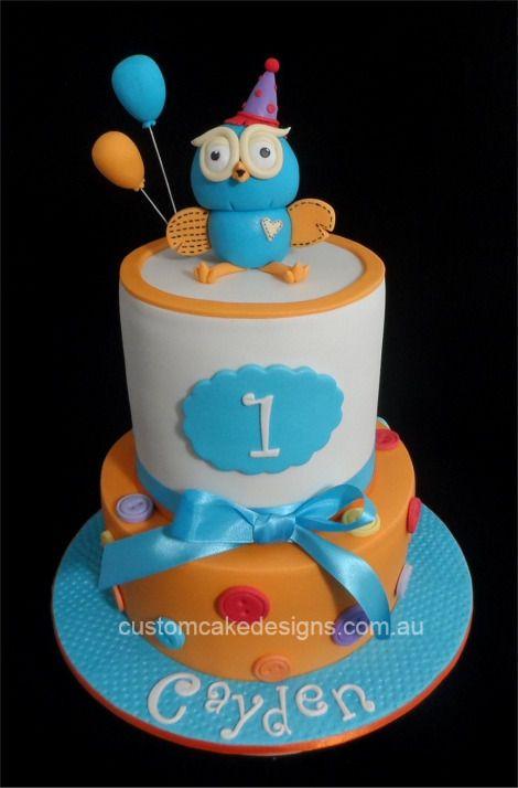 Hoot 1st Birthday Cake — First Birthday Cakes