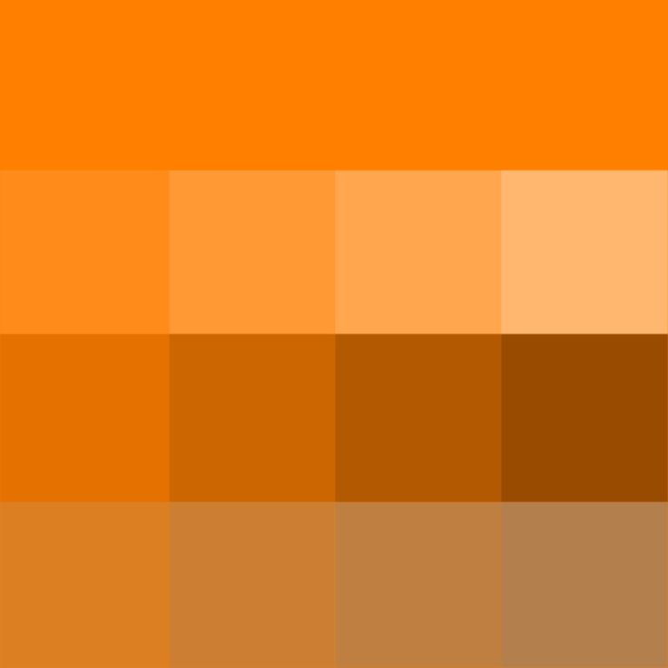 Orange Hue Tints Shades Tones Hue Pure Color