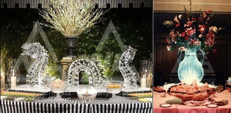 Otro de los nombres en las increíbles esculturas de hielo, tanto las originales como las esculturas de hielo para eventos más exclusivos, es Anthony Schmatz ¿Un sencillo jarrón o un dragón para tu fiesta?