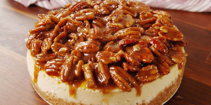 Take your pecan pie to the next level: introducing pecan pie cheesecake...aka the best thing to happen to Thanksgiving since sliced turkey.