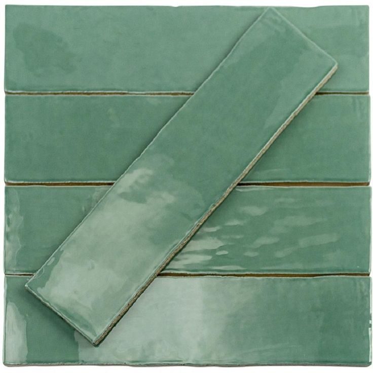 Ivy Hill Tile Catalina Green Lake 3 in. x 12 in. x 8 mm Polished Ceramic Wall Subway Tile (1 sq. ft.)