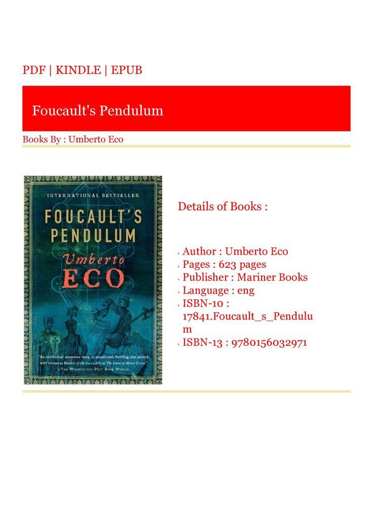 Download kindle foucaults pendulum in 2020