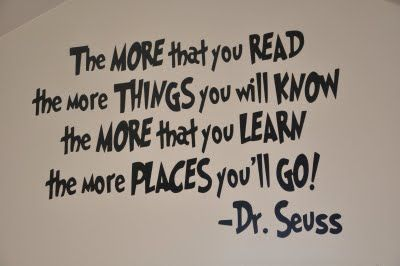 Use vinyl to put in reading area or across top of classroom?