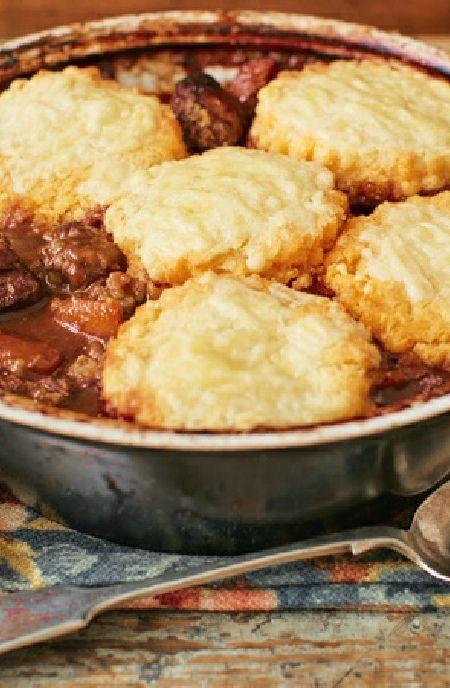 Low FODMAP Recipe and Gluten Free Recipe - Minced beef cobbler http://www.ibs-health.com/low_fodmap_minced_beef_cobbler.html