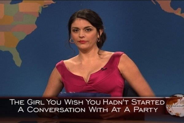 Saturday Night Live: Weekend Update: Girl You Wish You Hadn't Started a Conversation With at a Party - Christmas