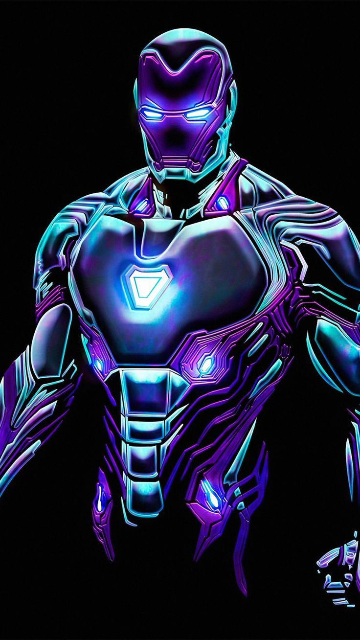Neon Iron Man4k Mobile Wallpaper (iPhone, Android, Samsung