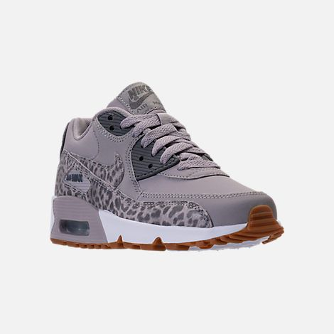 best authentic dfa8d 9268e Three Quarter view of Girls  Grade School Nike Air Max 90 Leather Casual  Shoes