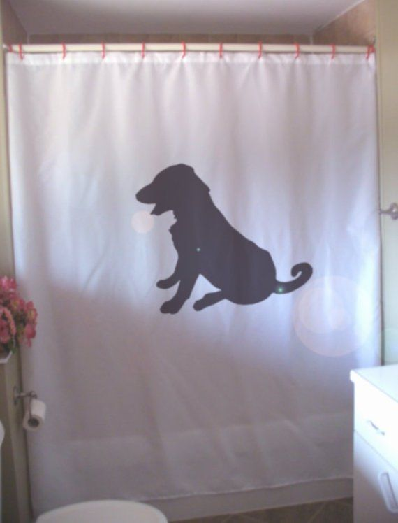 Labrador Retriever Puppy Shower Curtain Man S Best Friend Pup Dog