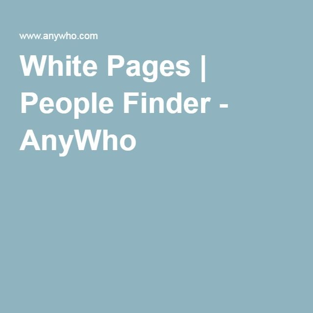 White Pages | People Finder - AnyWho