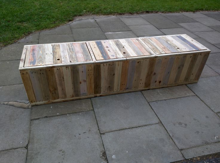 Handmade Rustic Storage Bench with Hinged Lids and Separate Internal Storage Compartments Reclaimed Wood by TimberWolfFurniture on Etsy https://www.etsy.com/listing/220890184/handmade-rustic-storage-bench-with