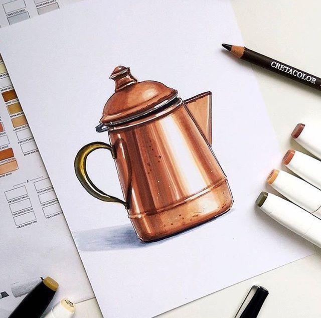 Great copper material. Credit: @nika.urubkova . . . . . . #rotio #sketch #design #idsketch #industrialdesign #dailysketch #productdesign #diseño #designsketch #sketchaday #デザイン #sketchdaily #idsketching #doodle #illustrator #designer
