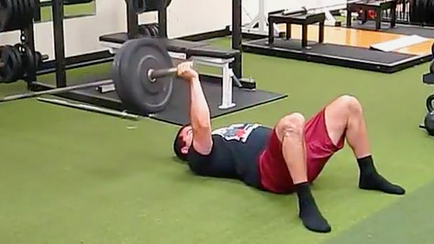 Here's a shoulder-friendly alternative to the dumbbell floor press