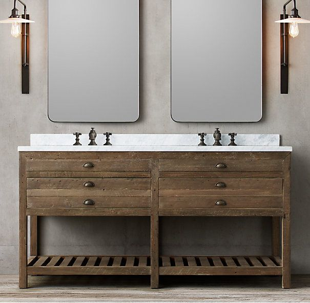 Printmaker s Double Washstand DIMENSIONS Vanity Sink with Top  66 W x 24 D  x 33 H Vanity Base  65 W x 23 D x 32 H   House Jack and Jill Bath    Pinterest  Printmaker s Double Washstand DIMENSIONS Vanity Sink with Top  66  . 66 Double Sink Vanity. Home Design Ideas