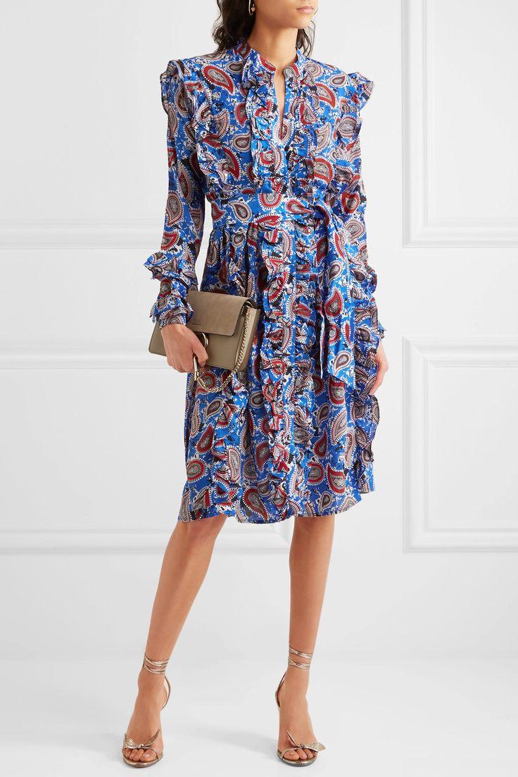 Dodo Bar Or | Jaeger ruffled paisley-print silk dress | NET-A-PORTER.COM
