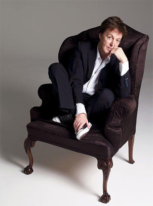 Paul McCartney! Love the Converse! (Yeah, I sit like that too!)