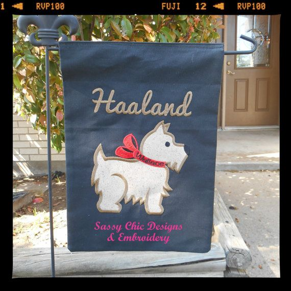 Personalized Yard Flag/Scotty Yard by SassyChicEmbroidery on Etsy, $30.00