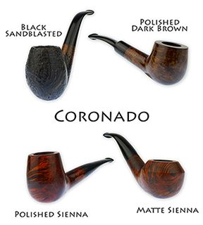 """We've been carrying """"basket"""" or budget pipes since the early 1900's and now offer them in our online store. They are affordable starter pipes for someone who is just testing the waters to see if pipe smoking is something they might enjoy, or say you're planning a trip across the Serengeti in a jeep and cringe at the thought of your prized pipes flying out the window only to be trampled by a million migrating wildebeests. In all of these examples, a Coronado pipe may serve you well."""
