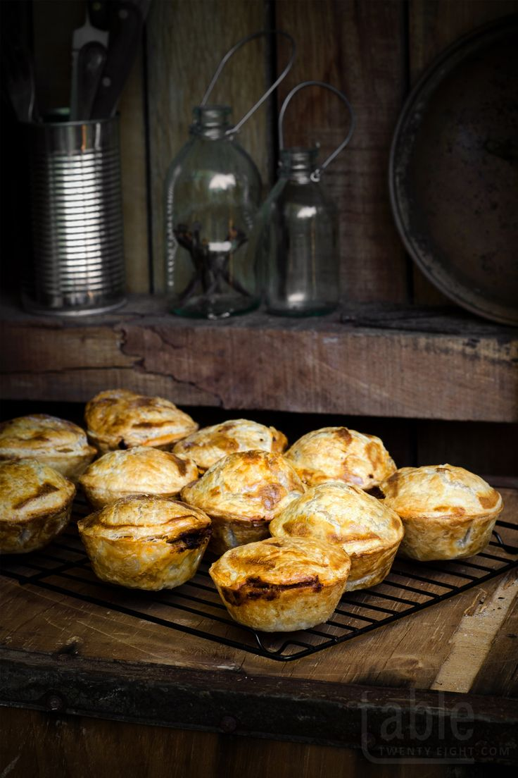 mini steak, onion & ale pies | table twenty eight