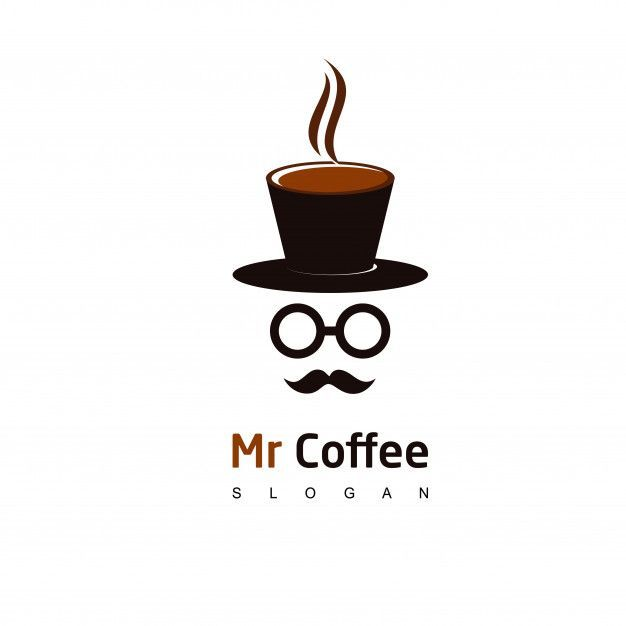 Descarga Gratis Vectores De Mr Coffee Logo Cafe Icon Design