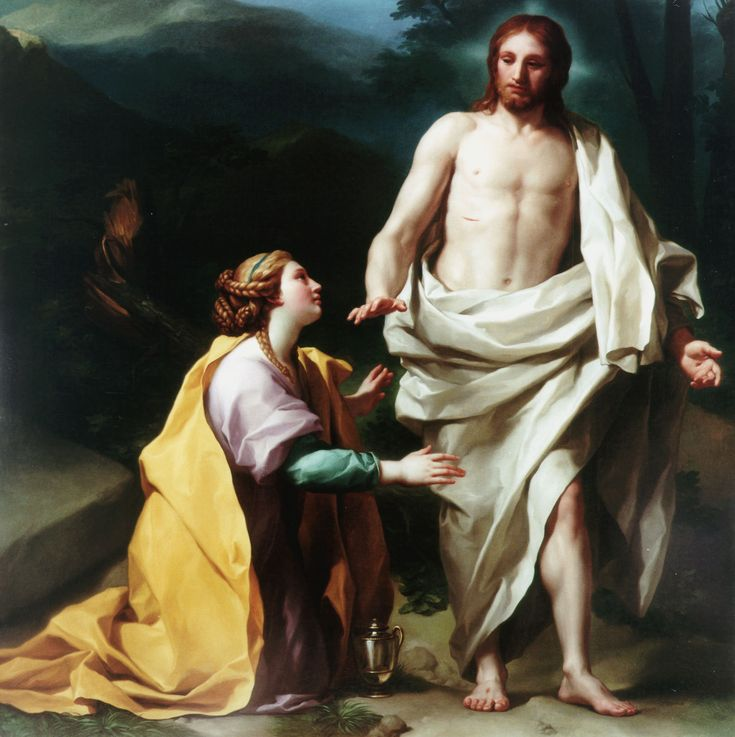 Noli me tangere // 1769 // Anton Raphael Mengs // Palacio Real de Madrid // #Jesus #MaryMagdalene #Easter #Pascua #Resurrection