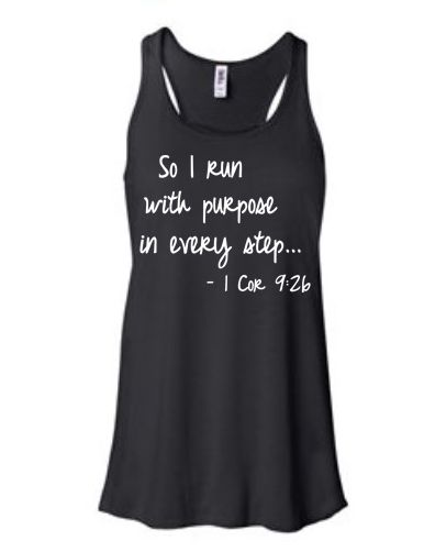 Running gifts - running tank - 1 Cor. inspirational running quotes $24.99