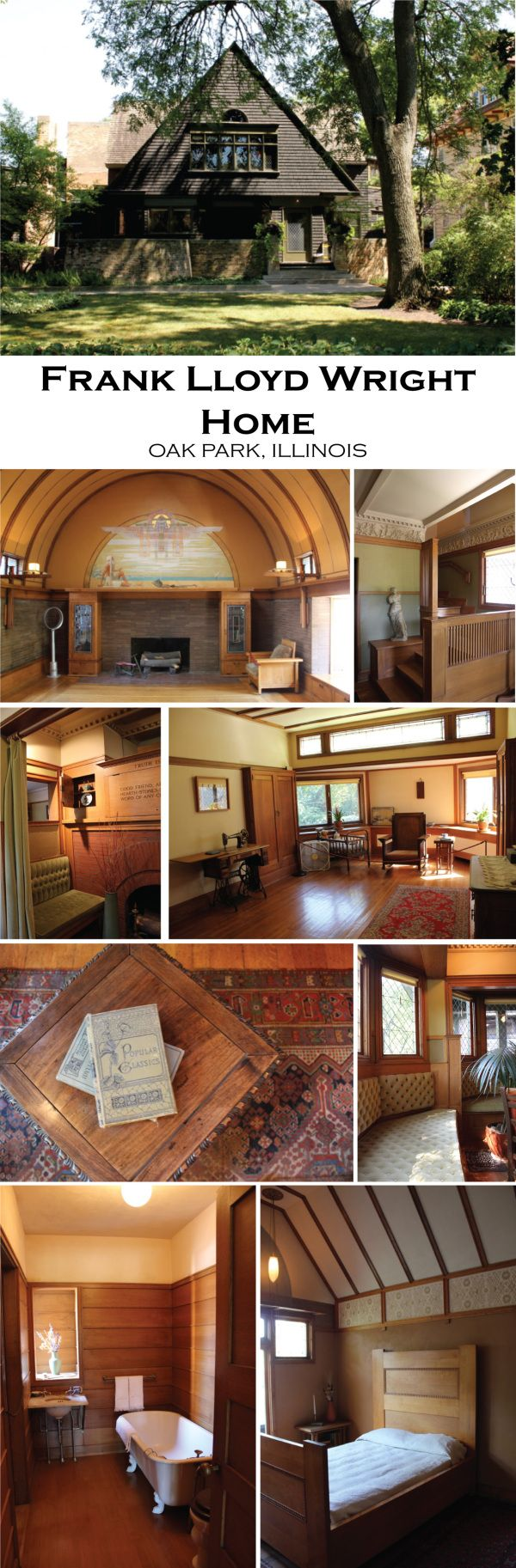 Frank Lloyd Wright Home and Studio. Oak Park, Illinois. 1889-1898
