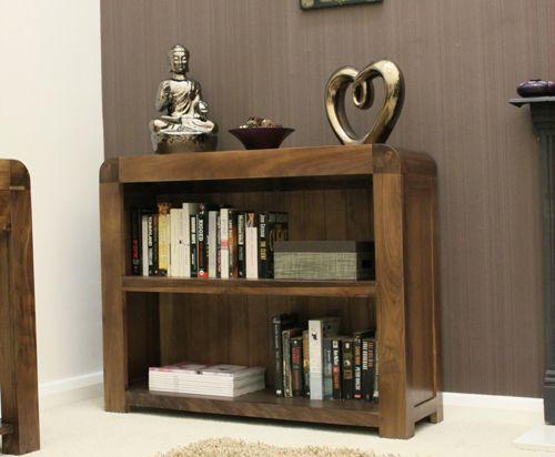 Shiro Walnut Low Bookcase #wood #furniture #livingroom #lounge #bedroom #office #study #hallway #modern #contemporary #minimalist #interior #home #decor #interiorinspiration #bookcase #books