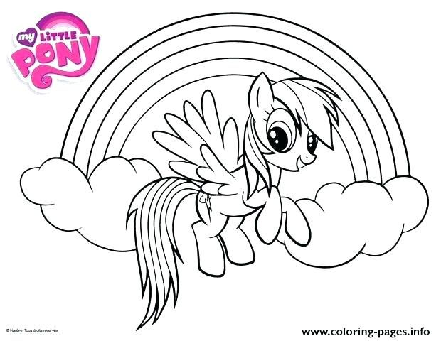 My Little Pony Coloring Rainbow Dash