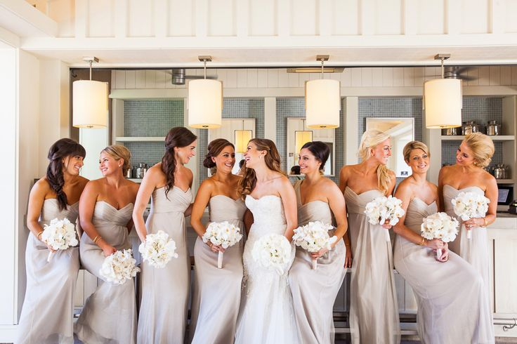 Bridesmaids dresses... likely will have this many girls in my bridal party